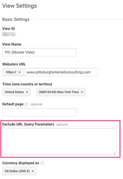 google-analytics-exclude-parameters