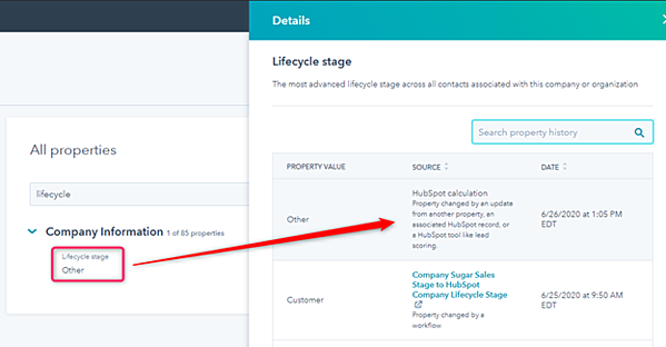HubSpot Lifecycle Stage Other